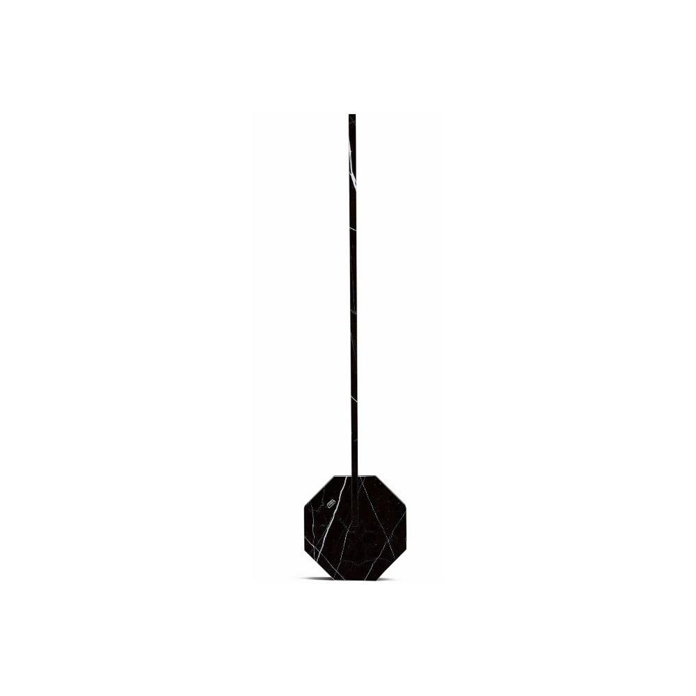 Czarna lampa stołowa w marmurowym dekorze Gingko Octagon