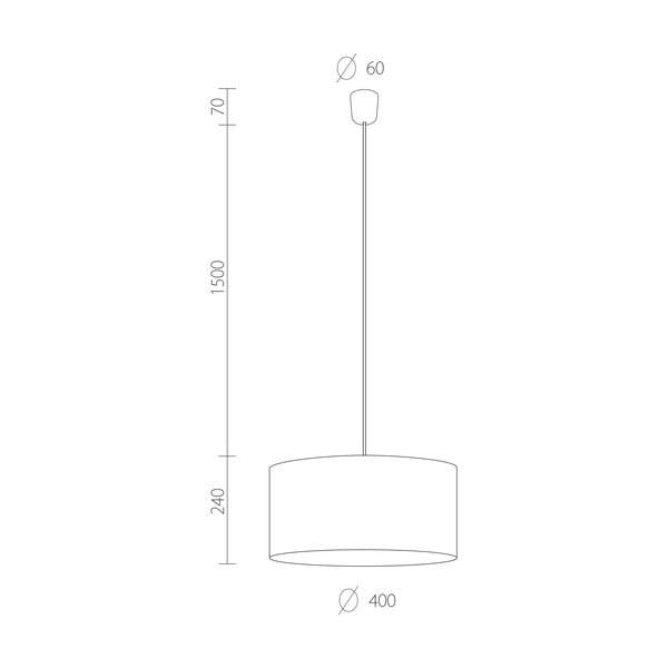 Czarna   lampa wisząca Bulb Attack Tres, ⌀ 40cm