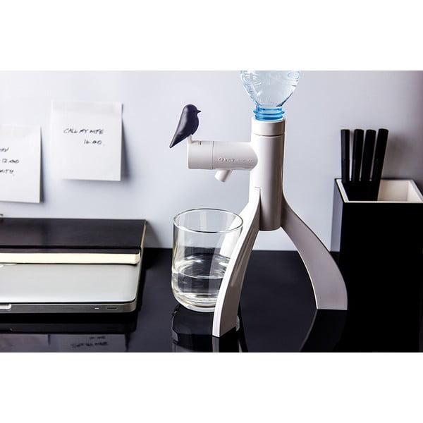 Stojak na butelkę plastikową QUALY Thirsty Bird, czarny