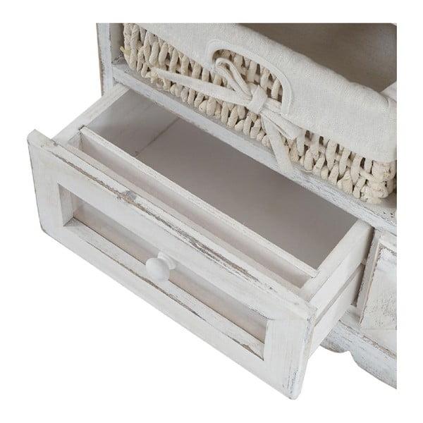 Biała ławka ze schowkiem Mendler Shabby Dia