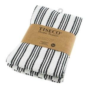 Komplet 4 czarnych bawełnianych ścierek Tiseco Home Studio, 50x70 cm