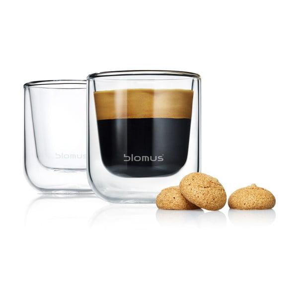 Komplet 2 szklanek do espresso Blomus Nero, 80 ml