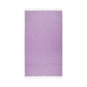 Fioletowy ręcznik hammam Kate Louise Bonita, 165x100 cm
