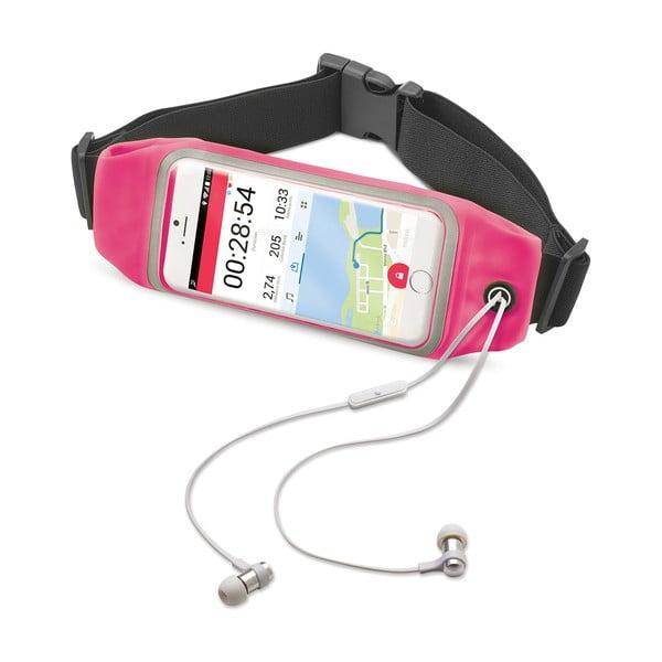 """Sportowa opaska, neopreonowa CELLY RunBelt View, na telefony do 5.5"""", różowa"""