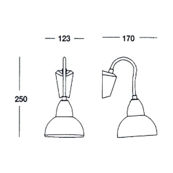 Lampa Satin Chromo, 12,3x25x17 cm