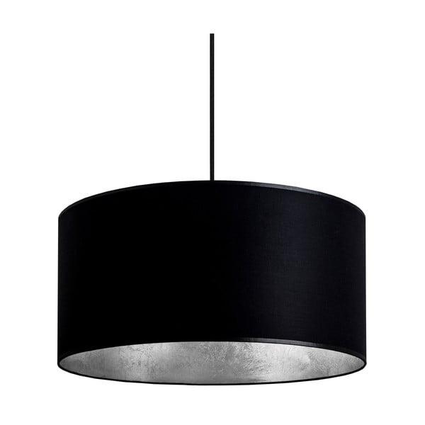 Czarno-srebrna   lampa wisząca Bulb Attack Tres, ⌀ 40cm