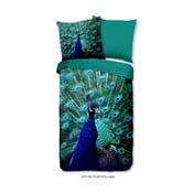 Pościel jednoosobowa z mikroperkalu Muller Textiels Mighty Peacock, 140x200 cm