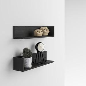 Zestaw 2 półek z dekorem ciemnego drewna jesionu MobiliFiver Menaci