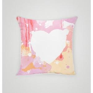 Poszewka na poduszkę Pink Heart II, 45x45 cm