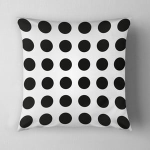 Poduszka Big Black Dots, 43x43 cm