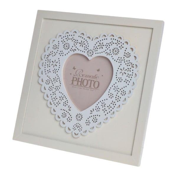 Drewniana ramka Heart, 21,5x21,5 cm