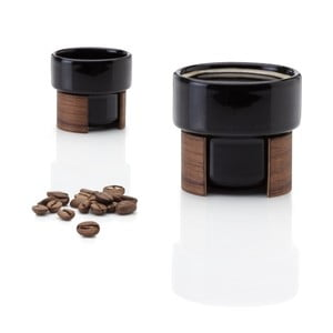 Zestaw filiżanek do espresso Warm Black Walnut, 8 cl, 2 szt.