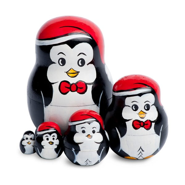 Zestaw 5 dekoracji Penguin