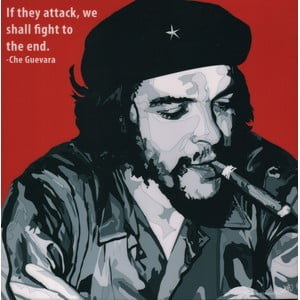 "Obraz ""Che Guevara - If they attack, we shall fight till the end"""