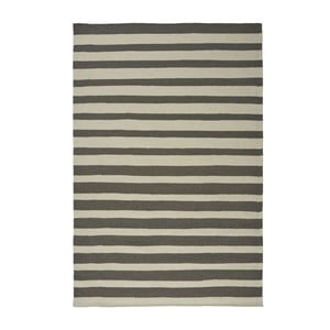 Wełniany dywan Toya Black, 140x200 cm