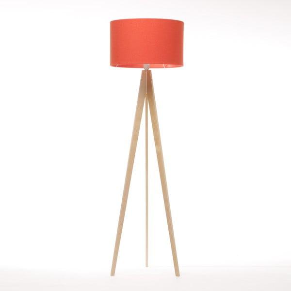 Lampa stojąca Artist Red Felt/Natural, 125x42 cm