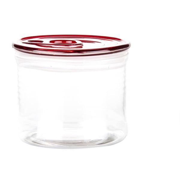 Pojemnik szklany z czerwonym wieczkiem Kaleidos Can, 10,5x9cm
