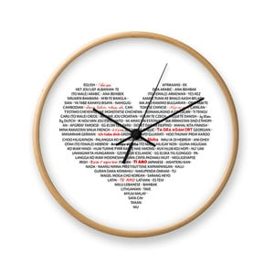 Zegar ścienny Tomasucci I Love You