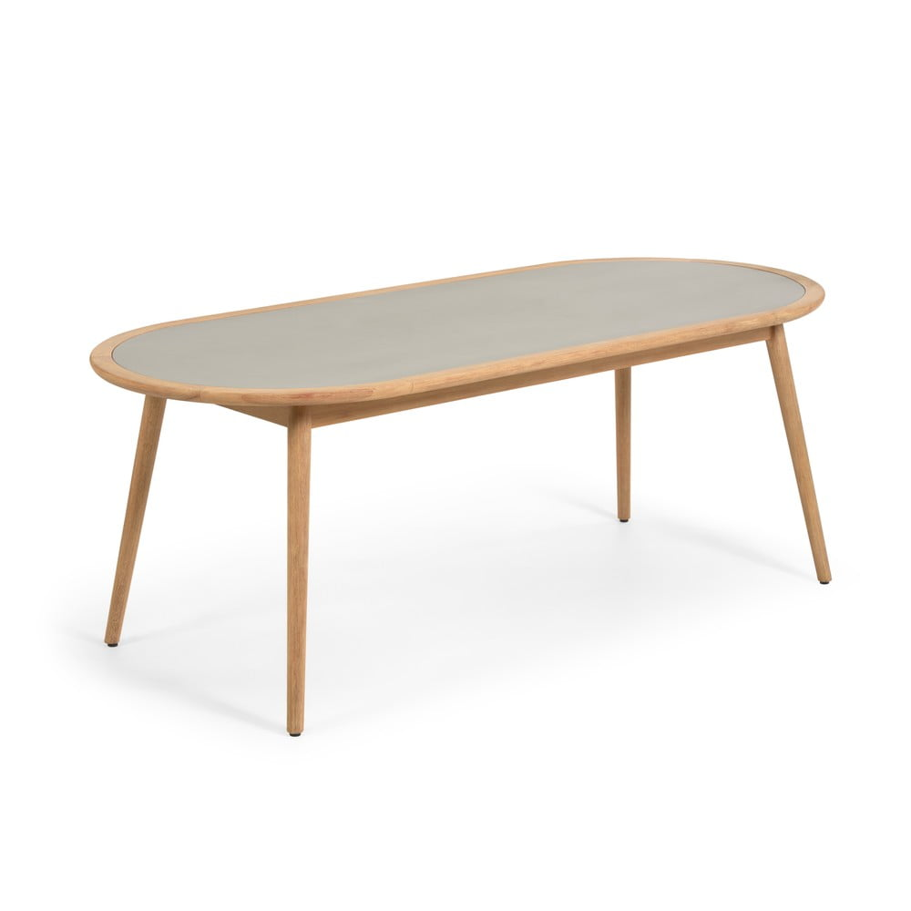 Stół ogrodowy z drewna eukaliptusa z betonowym blatem La Forma Glynis