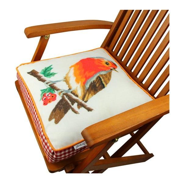 Poduszka na krzesło z wypełnieniem Honolulu, 42x42 cm