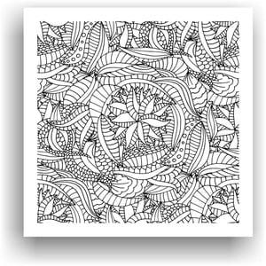 Obraz do kolorowania 89, 50x50 cm