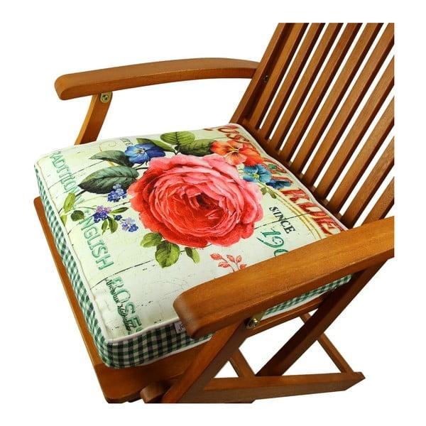 Poduszka na krzesło z wypełnieniem Virginie, 42x42 cm