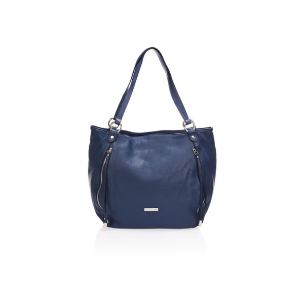 Skórzana torebka Krole Kelly, niebieska