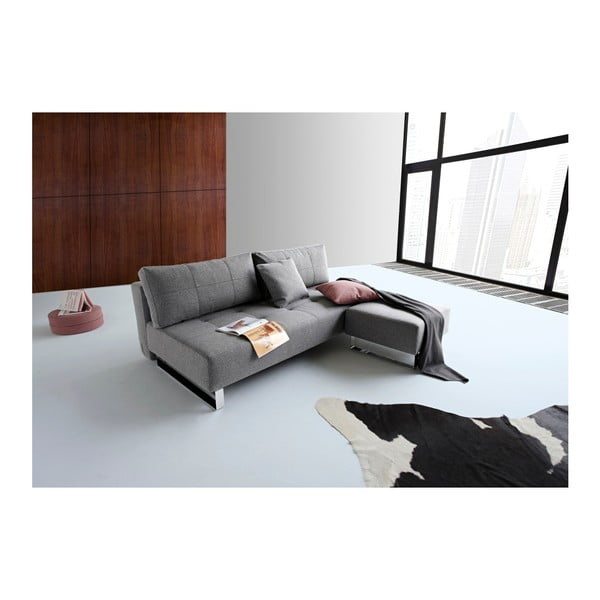 Szara rozkładana sofa Innovation Supremax Twist Charcoal