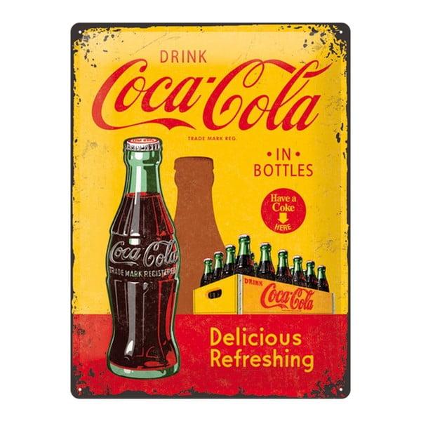 Tabliczka blaszana Yellow Drink Coca Cola, 30x40cm