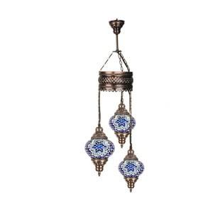 Potrójna szklana lampa wisząca Homemania Fudżajra, ⌀13cm
