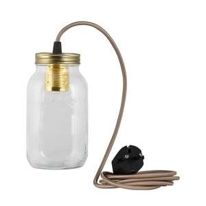 Lampa JamJar Lights, szaro-brązowy okrągły kabel
