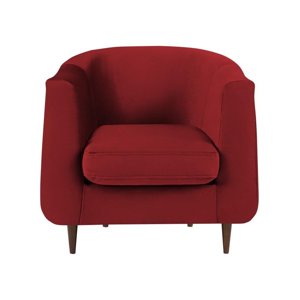 Czerwony aksamitny fotel Kooko Home Glam
