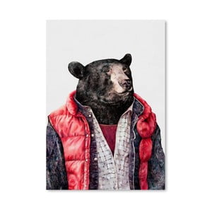 "Plakat ""Black Bear"", 30x42 cm"