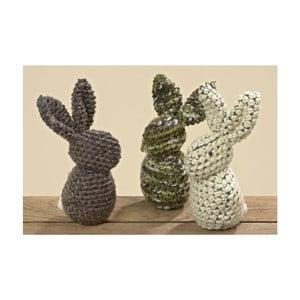Zestaw 3 królików dekoracyjnych