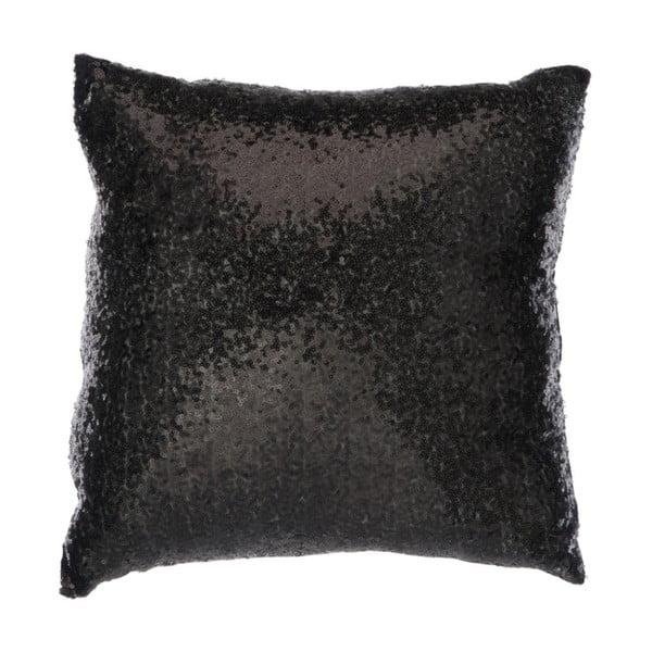 Czarna błyszcząca poduszka J-Line
