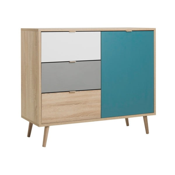Kolorowa komoda Intertrade Cuba, 103x85 cm