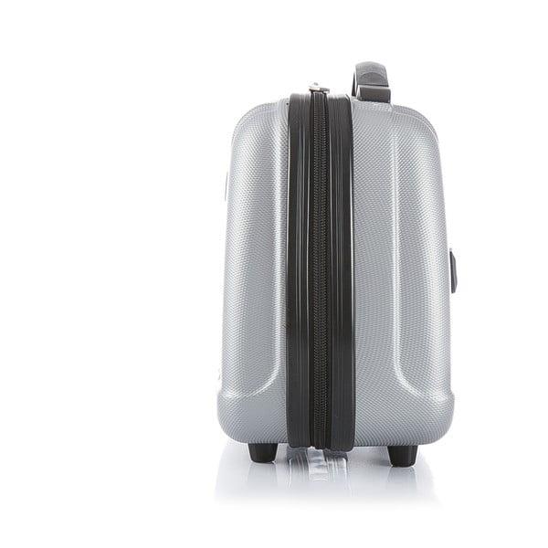 Srebrna walizka z bagażem podręcznym Bluestar