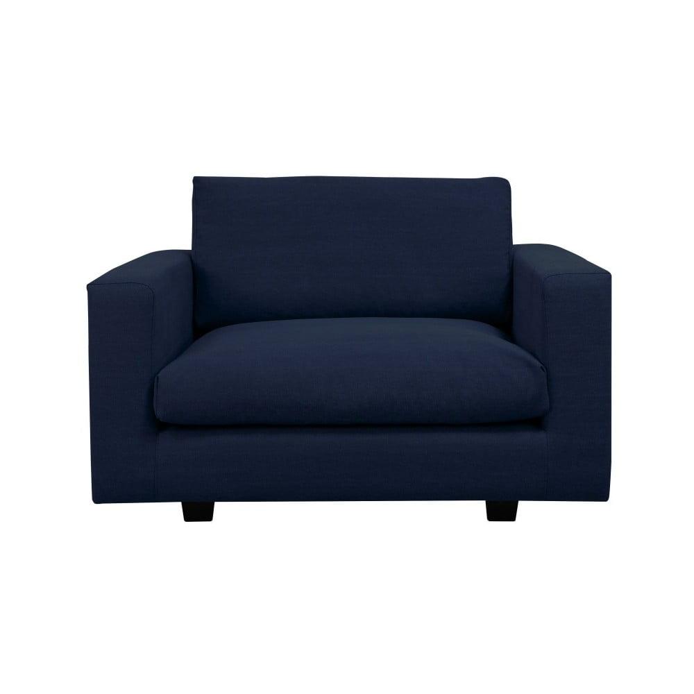 Ciemnoniebieski fotel Kooko Home Melody