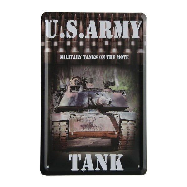 Tablica US Army Tank, 15x21 cm