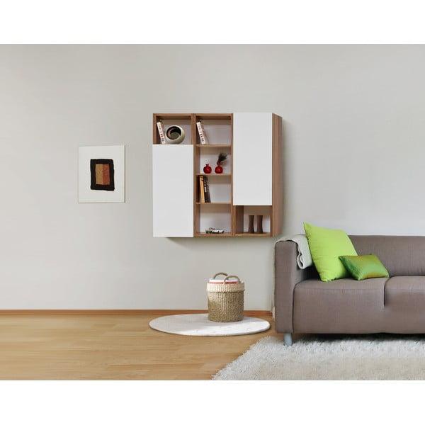 Półki ścienne Decoflex, białe/samba