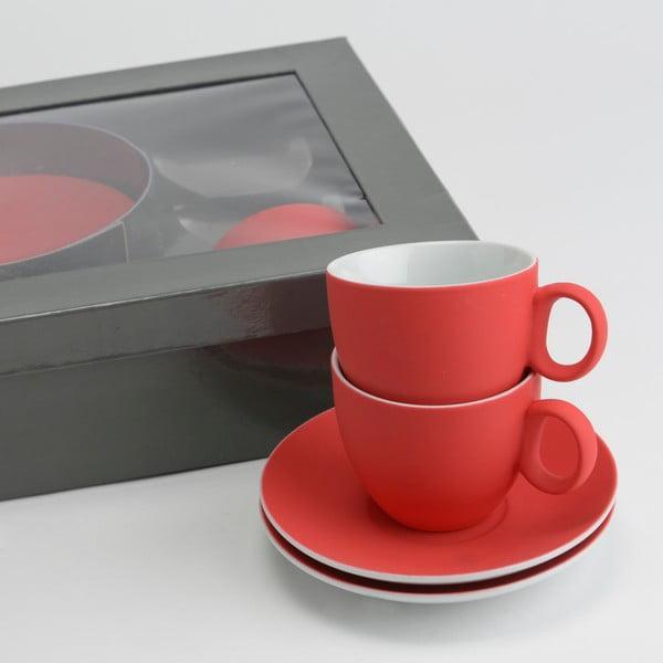Zestaw 6 filiżanek z podstawkami Coffee