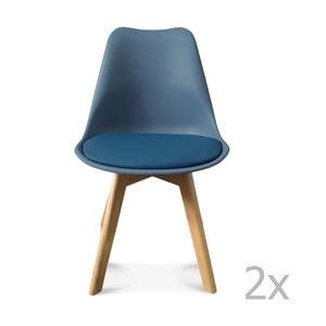 Zestaw 2 ciemnoniebieskich krzeseł Opjet Scandinavie