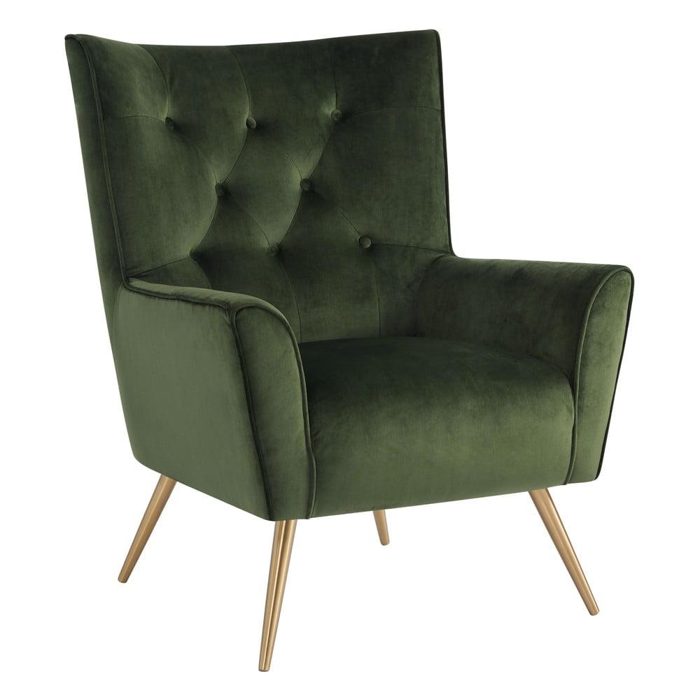 Ciemnoróżowy aksamitny fotel Actona Bodiva