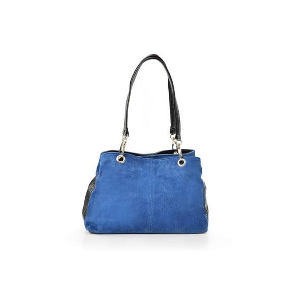 Skórzana torebka Giselle, niebieska