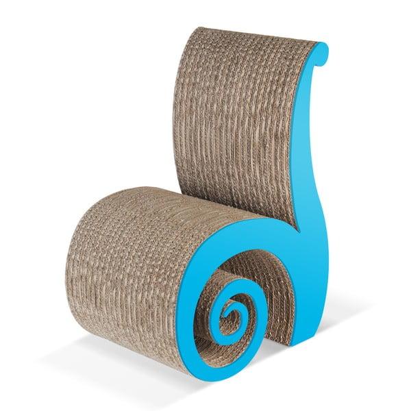 Kartonowe krzesełko dziecięce Chiocciolina Blue
