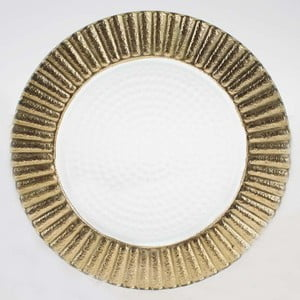 Zestaw szklanych talerzy Clear Gold, 20,5 cm, 2 szt.