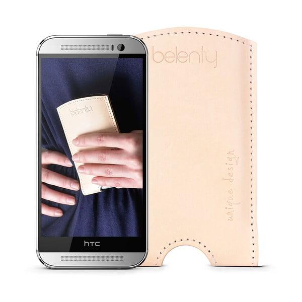 Skórzane etui na HTC One M8 Cream