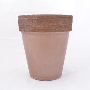 Doniczka ceramiczna Graffiato 40 cm, kawowa