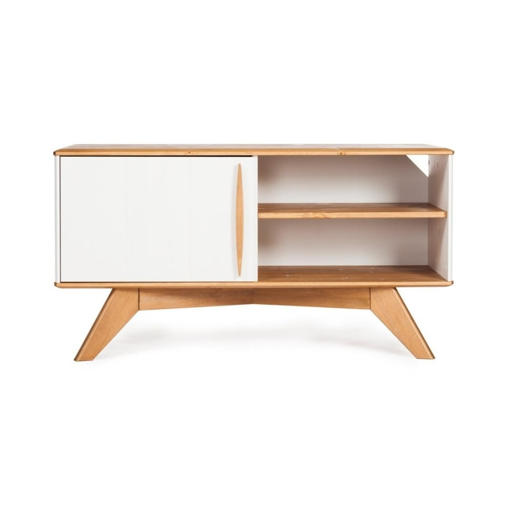 Szafka pod TV z drewna sosnowego Askala Maru, szer. 101 cm