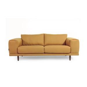 Żółta sofa dwuosobowa Charlie Pommier Relax